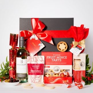 Festive Sweets Hamper with White Wine LR