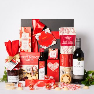 Jolly Christmas Hamper with Red Wine LR